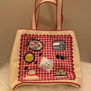 EUC 💜💝 LULU Guinness Picnic Theme Bag Rare